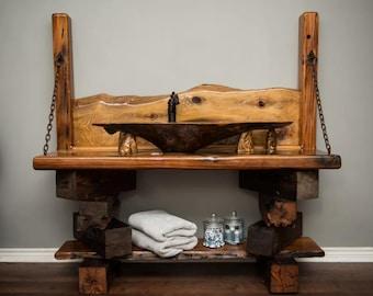 Sinker Cypress Burl Sink