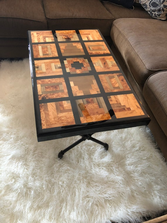 Quilted Puzzle Sinker Cypress Coffee Table