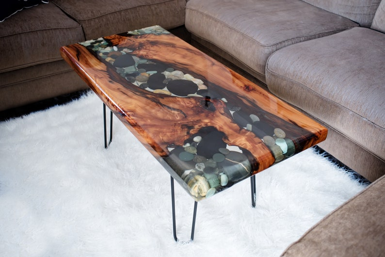 Charmant River Rock And Sinker Cypress Coffee Table