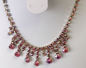 Rhinestone dangle necklace
