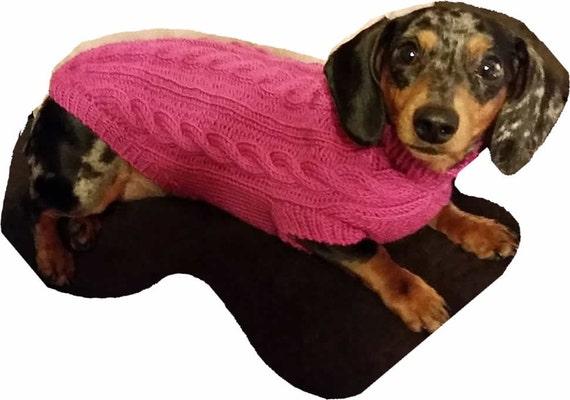 Mini Dachshund Cable Knit Dog Sweater Pattern Etsy