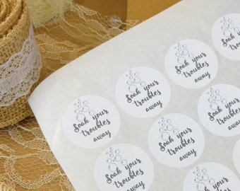 Soap labels, soap packaging, 48, 30mm, product labels, soap wrapping, product stickers, gift wrapping, favour labels, supplies, packaging