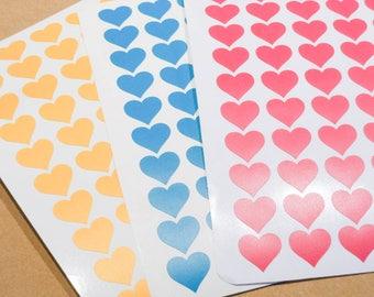 Heart stickers, heart decals, envelope seals, vinyl stickers, mini heart, vinyl sticker, cute stickers, vinyl decals, vinyl heart