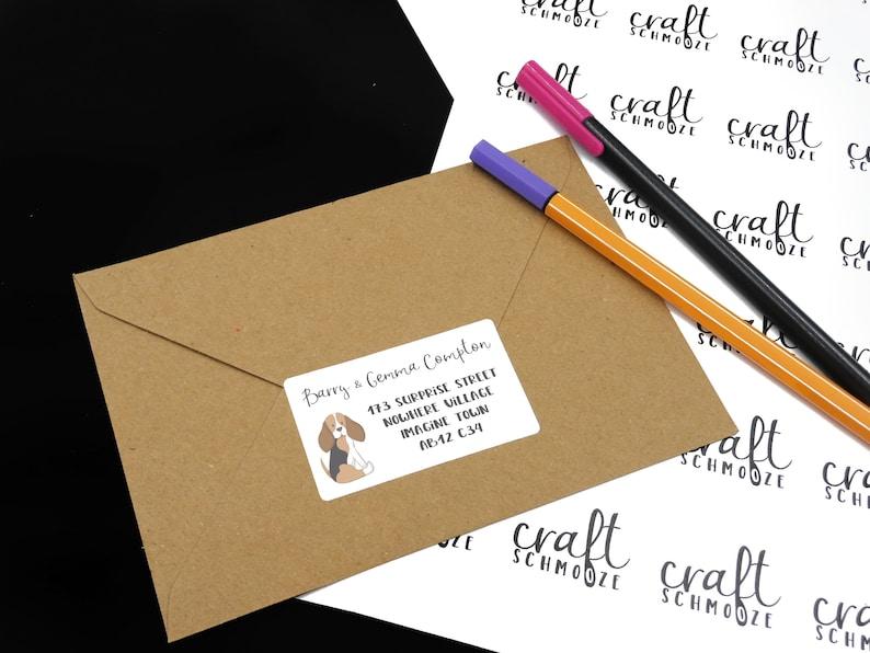 Beagle Gift Dog Birthday. Beagle Stationery Dog Baby Shower Personalised Beagle Return Address Labels
