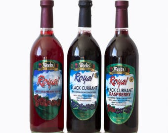 Fruit Juice Drink - Black Currant, Red Raspberry, Black Currant Raspberry