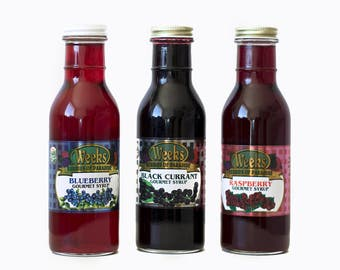 Gourmet Syrup - Raspberry, Blueberry, Black Currant