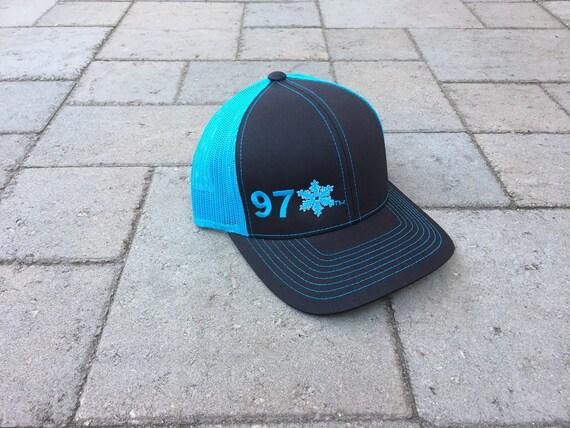 babfa4f1bfd Area Code Art 970 Area Code Trucker Hat Snapback