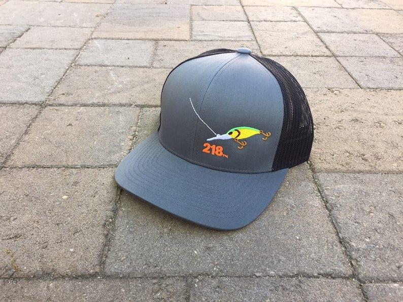 e5bfaf25af8 Area Code Art 218 Area Code Minnesota Trucker hat Walleye