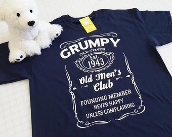b3803a052afbd Grumpy Old Timer Club with Custom Established Year T-shirt - Great for  Fathers Day and for Grandpas