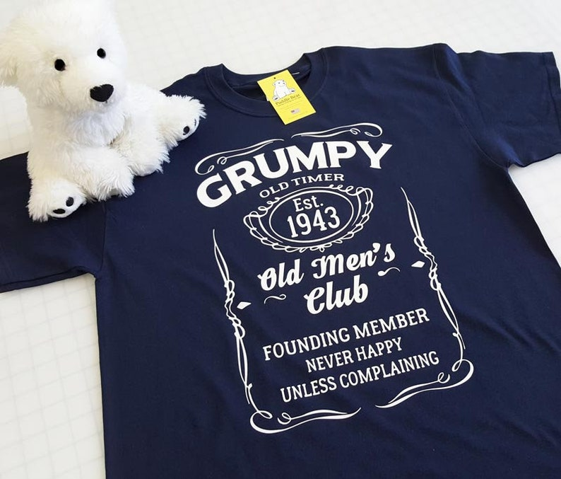 ad6515ebd8cb5 Grumpy Old Timer Club with Custom Established Year T-shirt - Great for  Fathers Day and for Grandpas
