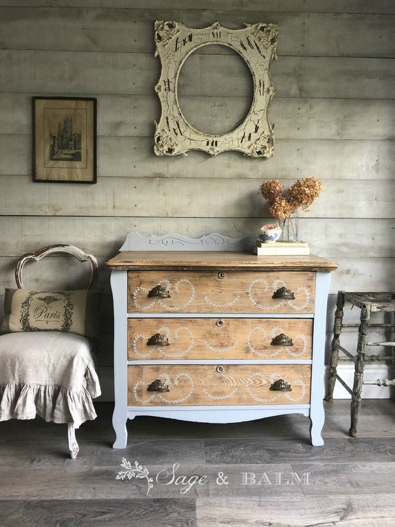 Sold Blue Shabby Chic Chalk Painted, Shabby Chic Painted Furniture