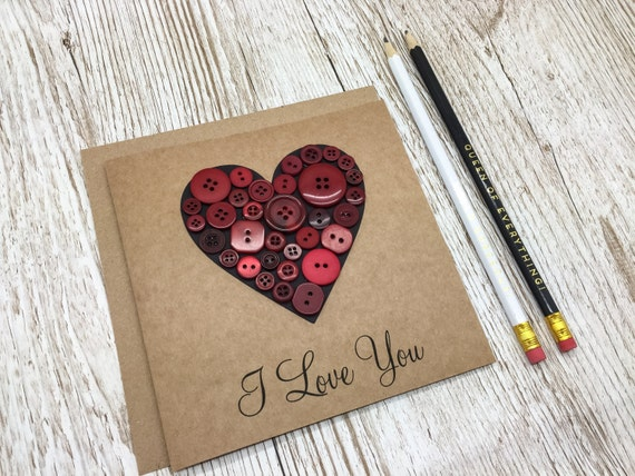 Image result for button heart card