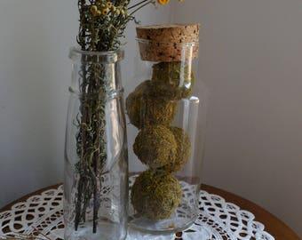 Medium Vintage Glass Jar Cork Stopper