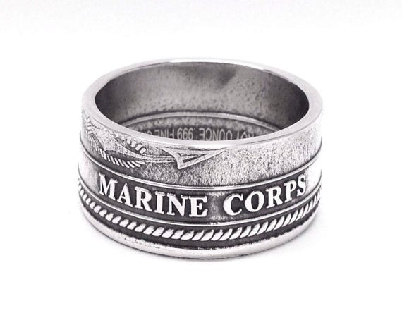 silver us armed forces challenge coin ring etsy