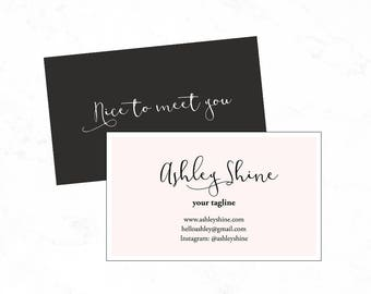 Pink Business card design:PSD business card template, Diy business card template