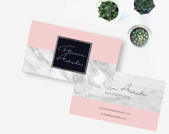 Marble business card Premade business card Premade business card Personalized business card Custom business cards Instant download
