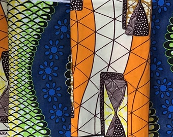 2 fat quarters Africa fabric, Africa clothing, Africa print fabric, Ankara fabric, Africa wax print, African Fabric for Mask Making
