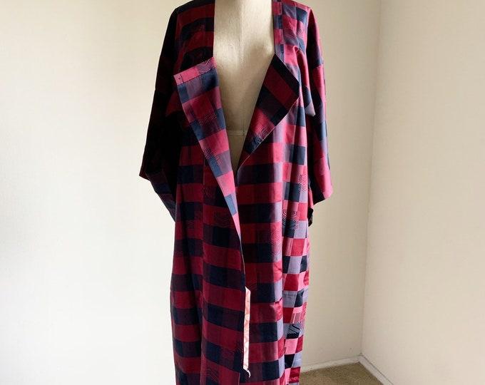 Vintage silk kimono | 1950s kimono | Japanese kimono | Michiyuki | Check