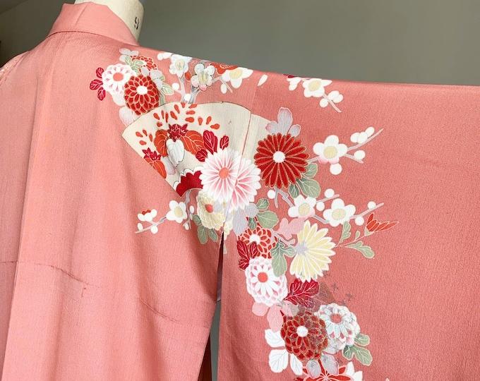 Antique silk kimono | 1920s kimono | Japanese kimono | Blush