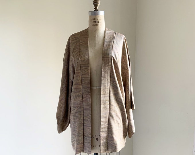 Vintage silk kimono | 1950s kimono | Japanese kimono | Haori | Gray