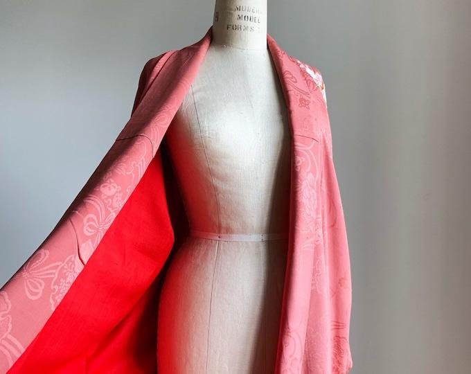Antique silk kimono | 1920s kimono | Japanese kimono | Rose