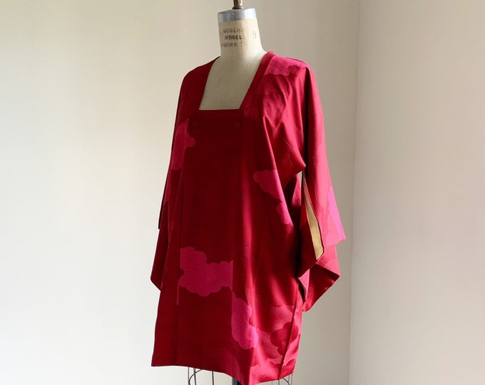 Vintage silk kimono | 1950s kimono | Japanese kimono | Michiyuki | Cherry