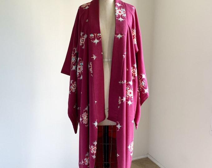 Antique silk kimono | 1920s kimono | Japanese kimono | Ruby