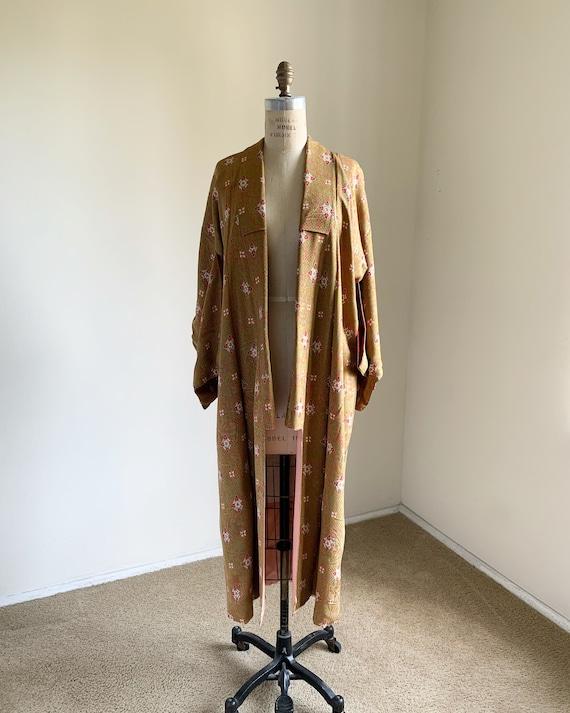 Antique 1930s Japanese silk kimono | Lime green &