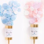 Gold Gender Reveal Poppers / Confetti Push Pop / Baby Shower / Wedding Confetti Popper / Wedding Favors / Gold Party Favors / Custom Message