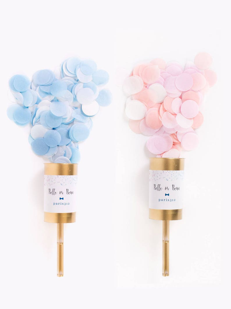 Gold Gender Reveal Poppers / Confetti Push Pop / Baby Shower / image 0