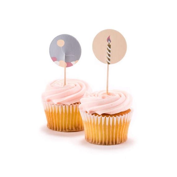 birthday cupcake toppers first birthday donut toppers 1st etsy