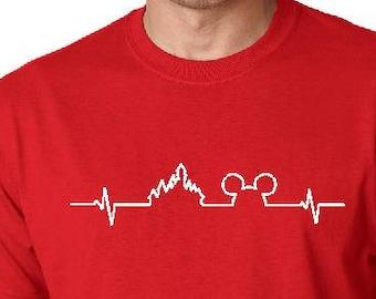 71267b89 Disney Heartbeat Shirt, Disney Heartbeat, Disney Shirt, Disney Trip, Mickey  Shirt, Mickey Heartbeat,Heartbeat Shirt,Mickey Mouse