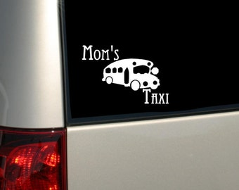 MOM'S Taxi -  WINDOW DECAL