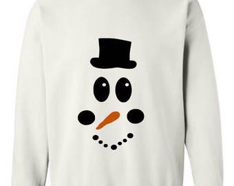 Snowman Sweatshirt - Christmas shirt -Christmas sweater - Holiday shirt- winter shirt- Frosty The Snowman