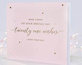 21st Birthday Card Age 21 Milestone For Her Greeting Cards Twenty One