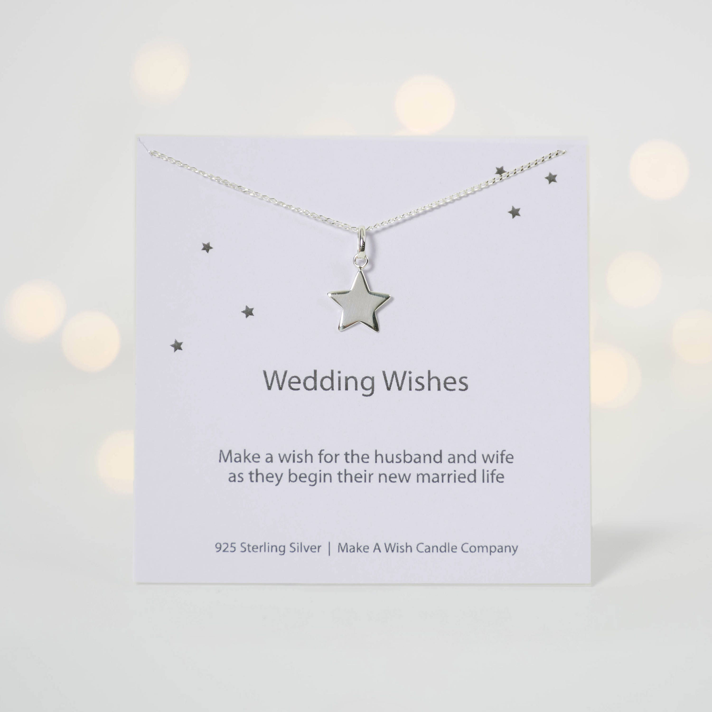 Wedding Wishes Necklace Gift For Daughter On Her Wedding