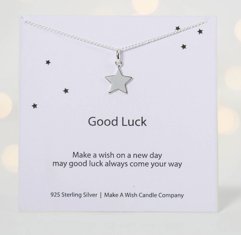 Good Luck Gift, Good Luck Charm, Wish Necklace, Leaving Home Necklace, Best  Wishes Gift, Moving Out Gift, Make A Wish For Good Luck, Make A