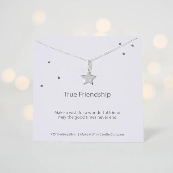 True Friendship Necklace Best Friend Gift Besties BFF