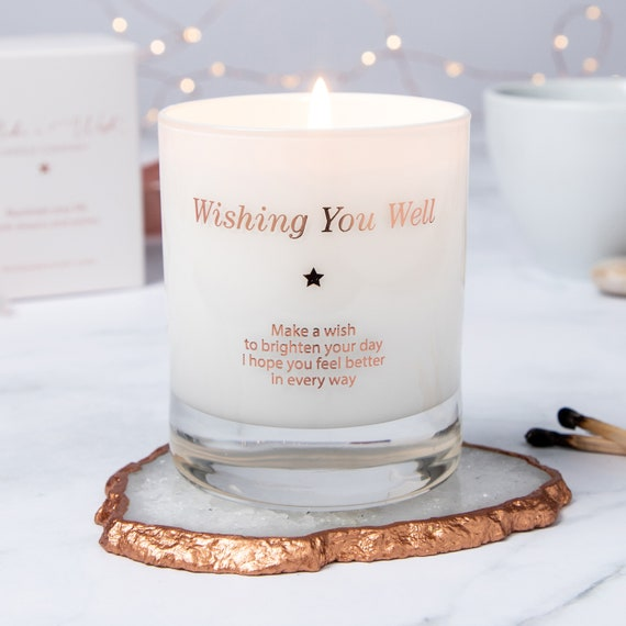 Cheer Up Gift Get Well Soon Candle Gift Injury Gift Get Well Gift Well Wishes Gift Candle Greeting Accident Gift