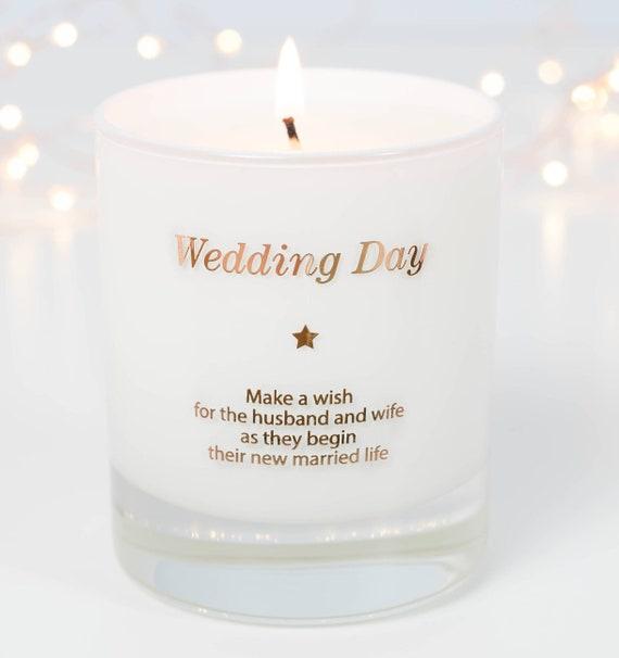 Wedding Day Candle Wedding Candle Gifts Wedding Gift Gift Etsy