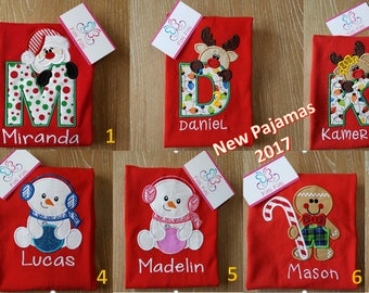 PRE-ORDER Personalized Christmas Pajamas   - Children Christmas Pjs - Kids Pajamas - Christmas Pajamas