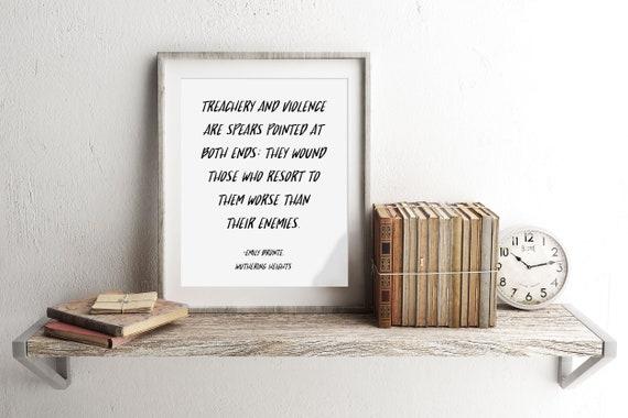 Emily Bronte Cytat Wichrowe Heights Cytat Książki Cytaty Angielski Nauczyciel Prezent Angielski Major Prezent Druk Cytat Bronte Literacki Cytat