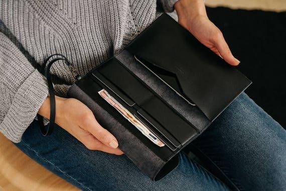 heiß-verkaufender Fachmann moderner Stil neue Liste Armband Geldbörse, Handy-, Brieftasche Fall, Kupplung Brieftasche,  Lederarmband, Lederclutch, Wristlet Clutch, Armband mit abnehmbaren Trägern