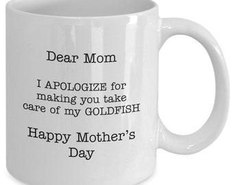 Dear mom - silly mother's day coffee tea hot chocolate mug