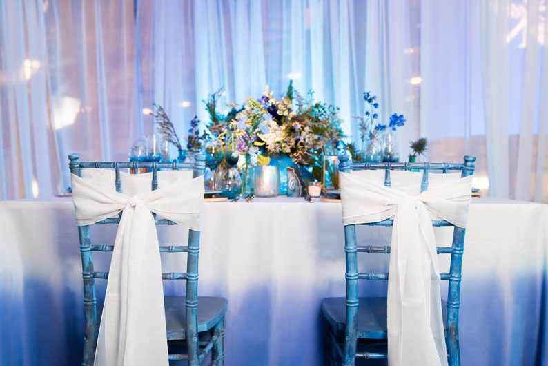 Ombre Linen  Blue Birthday Linen  Blue Tablecloth Blue image 0