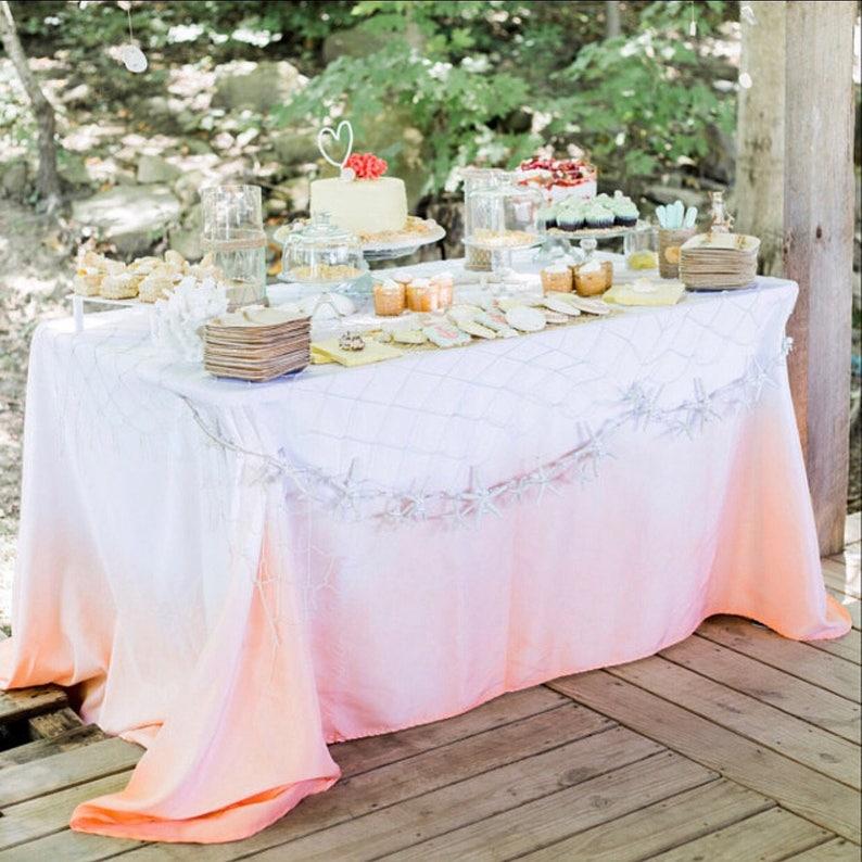 Peach Tablecloth  Peach Birthday  Peach Party  Peach image 0