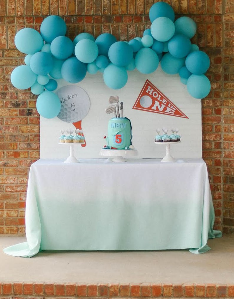 Superb Golf Party Decoration Golf Party Tablecloth Golf Table Golf Dessert Table Mint Tablelcoth Mint Party Decor Home Interior And Landscaping Pimpapssignezvosmurscom