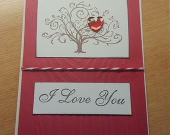 Handmade i love you card love pure and simple greeting handmade i love you card tree of life handmade greeting card greeting card valentines day card handmade i love you m4hsunfo
