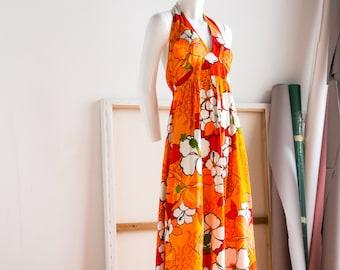 Bohemian Dress | Maxi Dress | Beach Dress | Summer Dress | Hawaiian Dress |Hawaiian Maxi Dress | Halter Dress | Halter Maxi Dress |