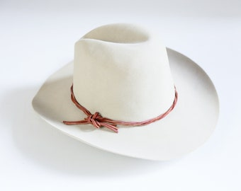 54b53d4ed8f3b Stetson Silver Belly Gus Felt Cowboy Hat with Braided Leather Detail